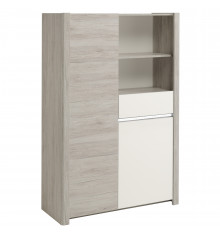 Buffet haut LUMILED Blanc brillant et gris