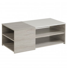 Table basse LUMILED Blanc brillant et gris
