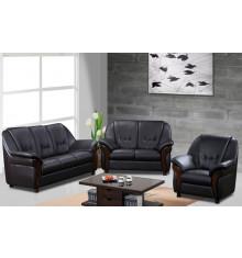 Salon 3 pièces CLAUDIO pvc pierre : 1 canapé 3 places + 2 fauteuils 1 place