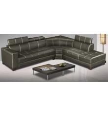 Canapé d'angle SEAN pvc pierre
