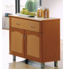 Buffet CERAMIKA I 2 portes 1 tiroir merisier
