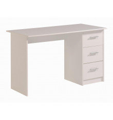 Bureau INFINI 3 tiroirs décor blanc
