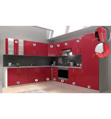 Meuble n°8 - VENEZIA angle 100/60cm rouge