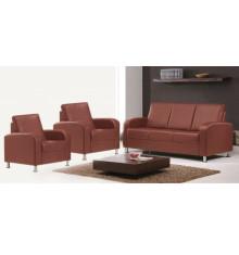 Salon 3 pièces ANNA tabac: 1 canapé 3 places + 2 fauteuils 1 place