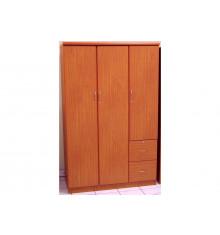 Armoire ROSALIE 3 portes 2 tiroirs merisier