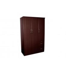 Armoire ROSALIE 3 portes 2 tiroirs wenge