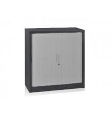Armoire basse à rideaux métallique coloris anthracite ARR-105