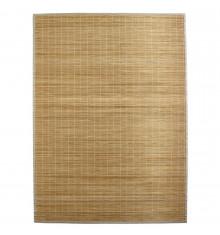Tapis en bambou fines lattes et ganse naturel L120 P170