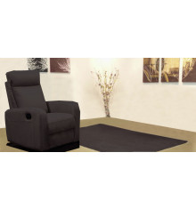 Fauteuil 1 place relax BERGAME tissu marron