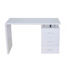 Bureau KEY 3 tiroirs blanc