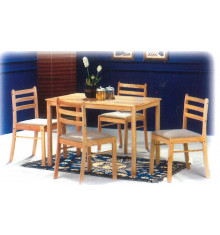 ENSEMBLE STARTER TABLE ET 4 CHAISEHEVEA MASSIF NATUREL