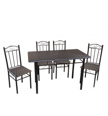 Ensemble table et 4 chaises BLACK