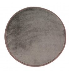 Tapis rond extra doux diam.70cm FLANELLE taupe