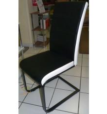 Chaise GALIA bicolore noir et blanc