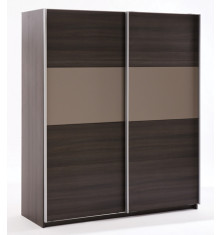 Armoire GRAPHIC 2 portes coulissantes Wenge
