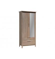 Armoire KENT 2 portes 3 tiroirs décor Chêne clair