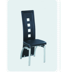Chaise STAR pvc noir
