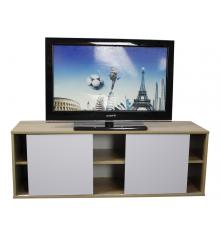Meuble TV 2 portes MOBILE chêne/blanc