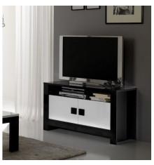 Meuble TV CHESS blanc laqué