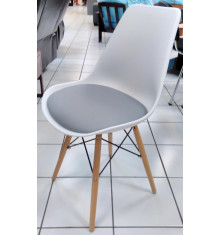 Chaise NORDIC blanc/gris