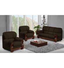 Salon 3 pièces HOLANDIA coco : 1 canapé 3 places + 2 fauteuils 1 place