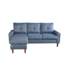 Canapé d'angle AZUR PU bleu clair