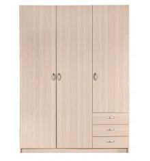 Armoire SPRINT 3 portes 3 tiroirs décor Acacia clair