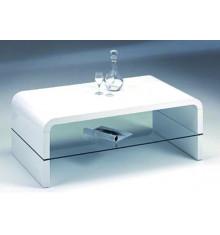 Table basse HARMONY laquée blanc