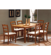Table HAVANA seule 90x150 hévéa massif teinte merisier
