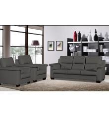 Salon 3 pièces TEXAS gris : 1 canapé 3 places + 2 fauteuils 1 place