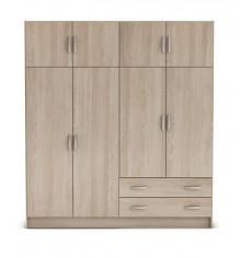 Armoire 4+4 portes+2 tiroirs TOP chêne/blanc