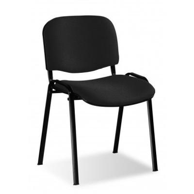 Lot de 5 chaises visiteur JANEIRO tissu noir