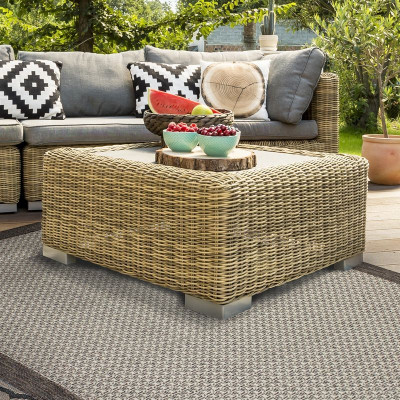 Tapis FLAT IN et OUTDOOR 160x230cm gris clair