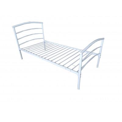 Lit 90x190 MATHIS métal blanc
