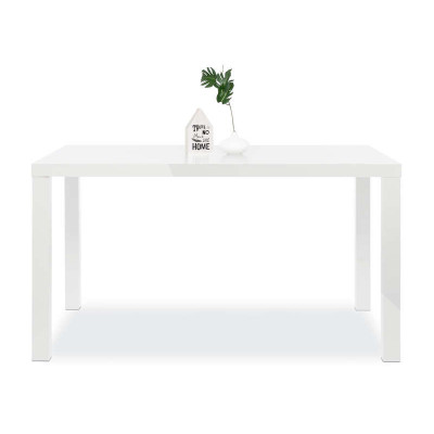 Table salle à manger PRIMO blanc mat - L140