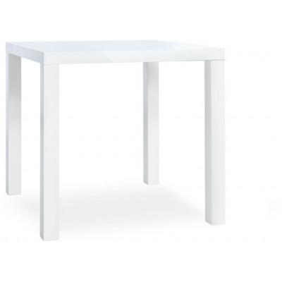 Table salle à manger PRIMO blanc brillant - L80