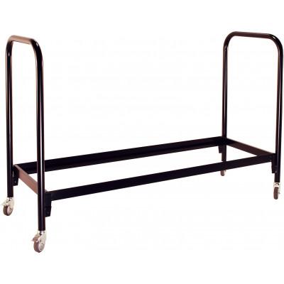 Chariot de stockage pour chaises pliantes noir