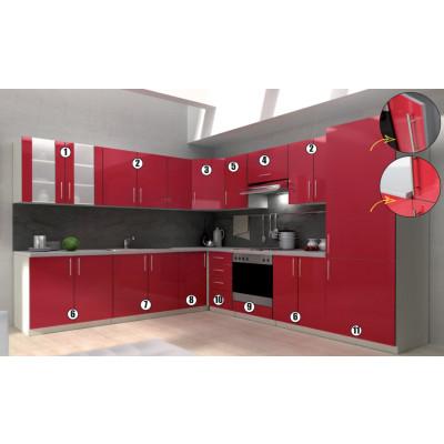 Meuble n°2 - VENEZIA haut 80cm rouge