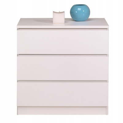 Commode 3 tiroirs HAVEN blanc