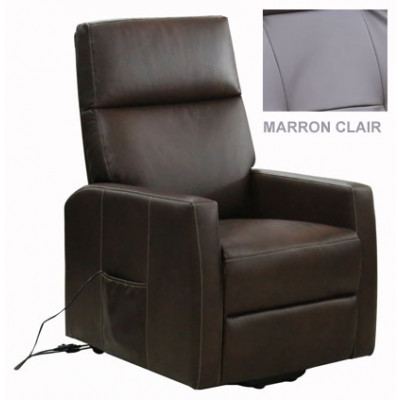 FAUTEUIL RELAXATION NICE MARRON CLAIR