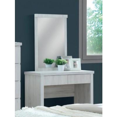Coiffeuse avec miroir ALBA chêne clair relief