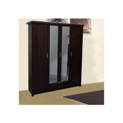 Armoire LOUISA 4 portes noyer