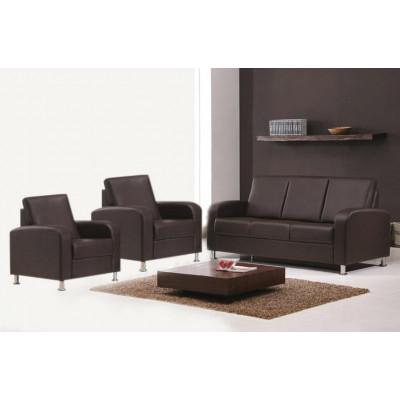 Salon 3 pièces ANNA coco : 1 canapé 3 places + 2 fauteuils 1 place