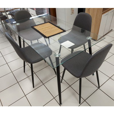 Ensemble table et 4 chaises BELLA