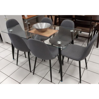 Ensemble table et 6 chaises BELLA