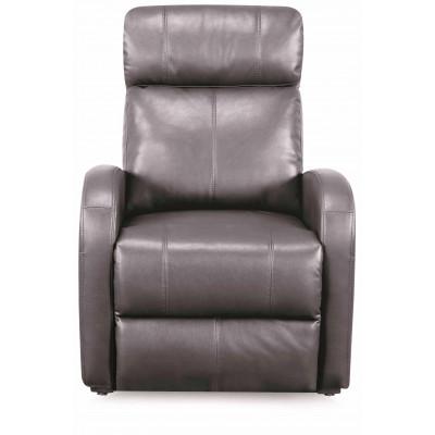 Fauteuil relax CAROLE électrique simili cuir gris mat