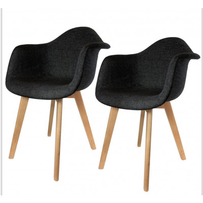 Chaise ALTEA tissu noir