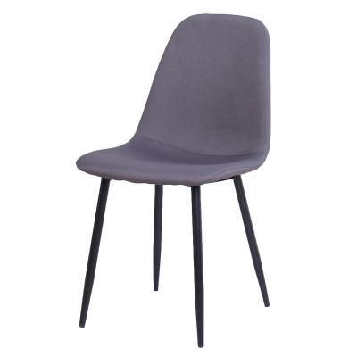 Chaise de salle à manger BELLA tissu gris