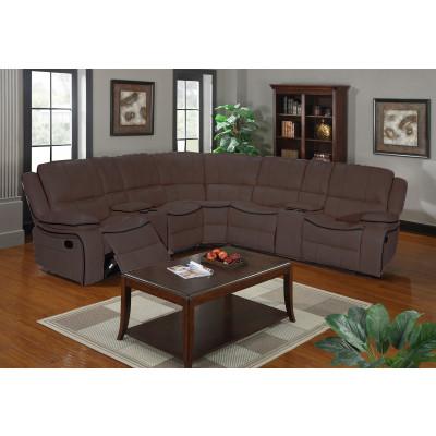 Canapé d'angle CLIMB simili cuir marron