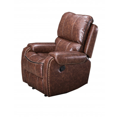 Fauteuil relax COCOON simili cuir marron